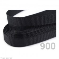 Taftová stuha - černá