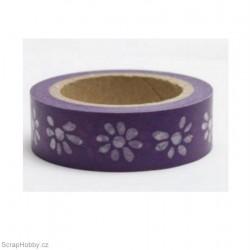 Kytičky ve fialové - 10m x 15mm