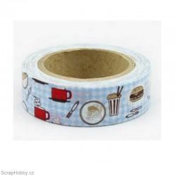 Washi páska - Hvězdičky modré