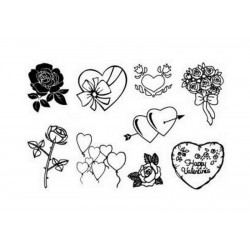 Razítka - Srdíčka a květiny