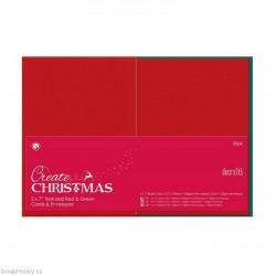Blahopřání a obálky - 50ks - červených + zelených 13x18cm