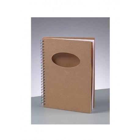 Scrapbooking - Blok a oválem