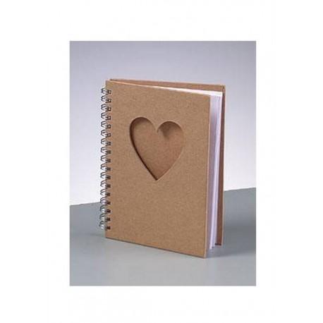 Scrapbooking - Blok A6 s výsekem srdce