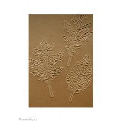 Embosovaná kartička - Kytičky