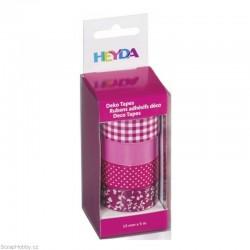 Washi páska - Sada - Rúžová - 4ks