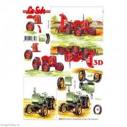 3D papíry - Traktory