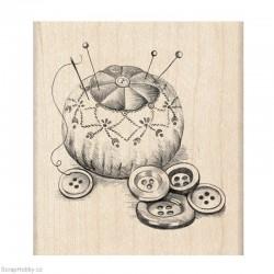 Razítko dřevěné - Jehelníček