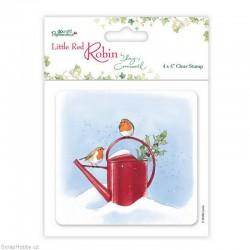 Transparentní razítko - Little Red Robin - konvička