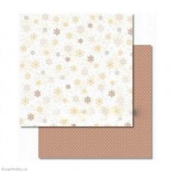 Papír - Oboustranný papír - Hnědé vločky