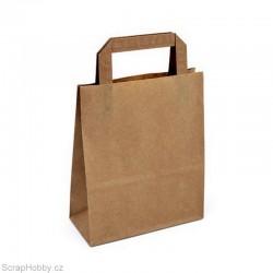 Papírová taška hnědá 18x8x22cm