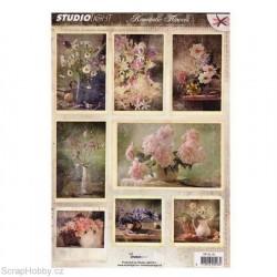 Výřezy - Vintage květiny