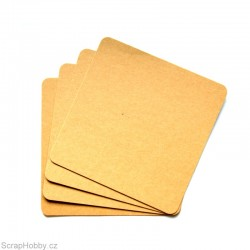 Recyklované papíry - čtvercové - oblé rohy - 100 ks