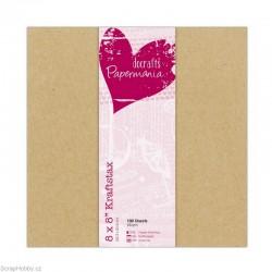 Sada kartonových papírů - Kraftstax 20x20cm (100 ks)