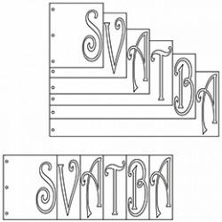 Album Svatba -36,6 x 14 cm - 6 listů