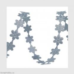 Stužky kytičkaté šedé