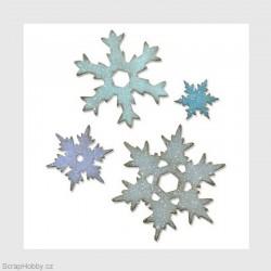Sněhové vločky - 4 ks