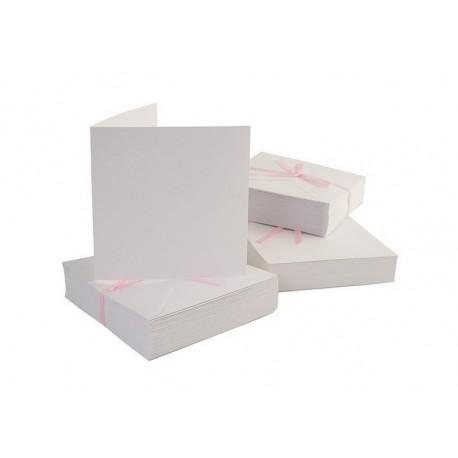 Blahopřání a obálky - čtvercové - bílé