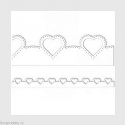 Papírová bordura - srdce