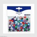 Samolepící kamínky - Světle modré - 104ks