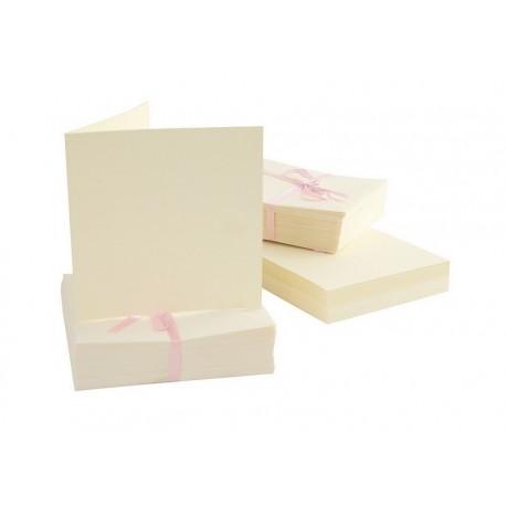 Scrapbooking - Blahopřání a obálky - 100ks - krémové - čtvercové