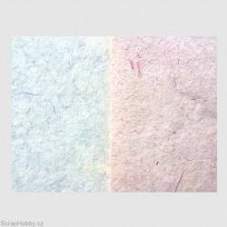 Ruční morušový papír lisovaný s vláknem - modrý