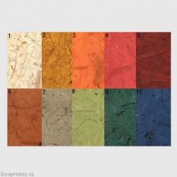 Morušový papír - banánový hnědo-žlutý-2