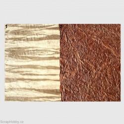 Nepálský papír - Imitace kůže - tmavě hnědá-2 - VODĚODOLNÉ