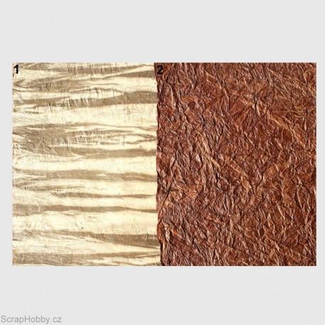 Nepálský papír - Imitace kůže - tmavě hnědá-2