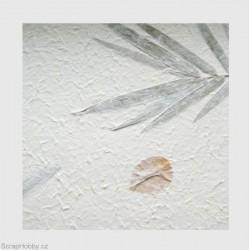 Ruční morušový papír - listy a květy V.