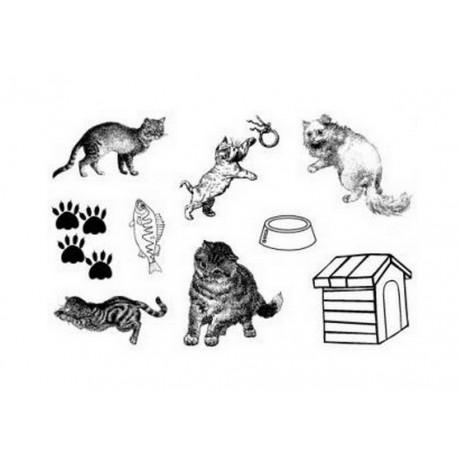 Scrapbooking - Razítka - Kočky