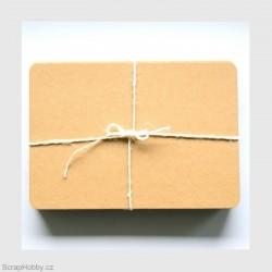 Recyklované papíry 17,8 x 12,7 cm - 100 ks - oblé rohy