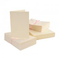 Scrapbooking - Blahopřání a obálky - 100ks - krémové