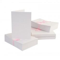 Blahopřání a obálky - 100ks - bílé - A6