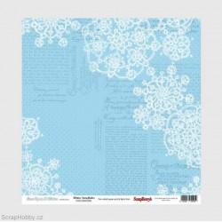 Oboustranný papír - Once Upon A Winter - Snowflakes