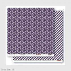 Oboustranný papír - Elegantly Festive -Snowflakes Beautyberry