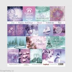 Jednostranný papír - Elegantly Festive - Cards 2