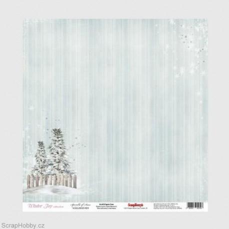 Jednostranný papír - Winter Joy - Sprinkle of Snow
