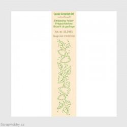 Listy a srdíčka - Krajová embosovací kapsa