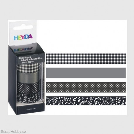 Sada - černo-bílá - 4ks