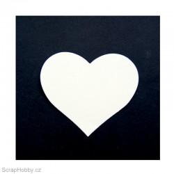 Srdíčka malá smetanová - 50 ks