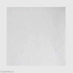 Papír se třpytkami - bílý