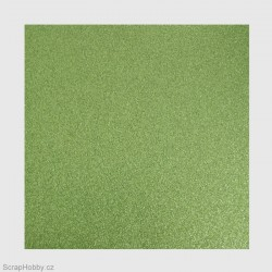 Papír se třpytkami - zelený