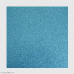 Papír se třpytkami - modrý