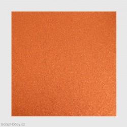 Papír se třpytkami - oranžový