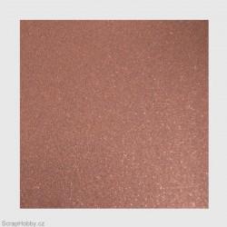 Papír se třpytkami - hnědý