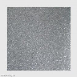 Papír se třpytkami - stříbrný