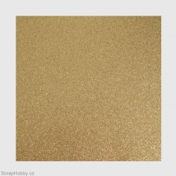 Papír se třpytkami - zlatý