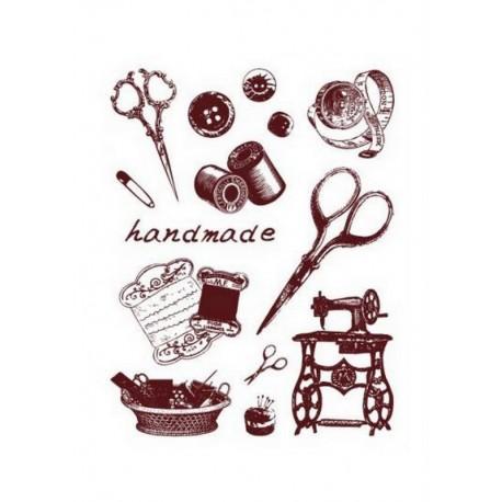 Scrapbooking - Razítka - Nůžky, šití, handmade....