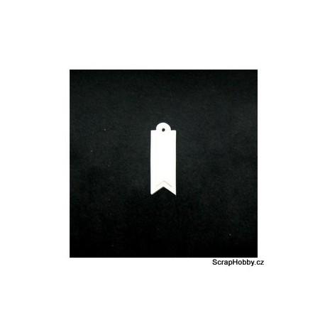 Visačky - 2v1 - 100ks - krémové