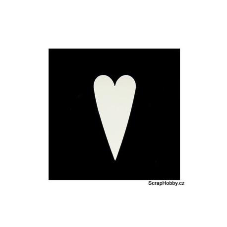 Srdíčka smetanová střední špičatá - 100 ks